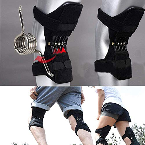 Breathable Joint Support Knee Pads Recovery Brace - Power Leg Knee Joint Support, with 4 Extra Powerful Rebound Springs, Breathable Knee Booster Spring Knee Brace, Inspire Uplift Knee Brace