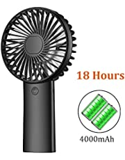 携帯扇風機 手持ち扇風機 4000mAh 大容量 卓上扇風機 USB充電式 手持ちファン 最大20時間動作 三段階調節 静音 強風 熱中症対策 コンパクト 携帯便利 PRAVETTE