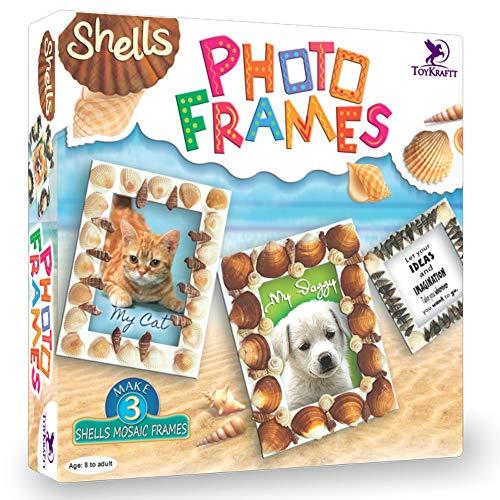 Toykraft - Shell Photo Frames, Craft Kit for Kids, Learning Activity Games, DIY Toys, DIY Craft Kit, Kids Activity for 7 Years & Above, Toys for 8+ Years Girls Boys