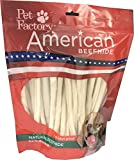 Pet Factory American Beefhide Chews 28223 Rawhide Natural Flavor 10' Thin Rolls for Dogs. American Beefhide is a Great Source for Protein and Assists in Dental Health. 35 Pack, Resealable Package