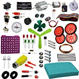 the curious brain electronics, electric & robotic raw material collection for boys & girls stem activity- Multi color