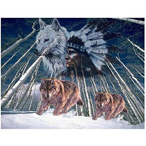 YGYGYG Rompecabezas de Vino, 5000 Piezas, tótem de Lobo de la Tribu Antigua, Juego de Rompecabezas Educativo Grande y difícil, 181 * 105 cm