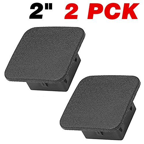 Trailer Hitch Cover, Size 2 inches Black Receiver Tube Trailer Hitch Plug - Set of 2