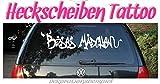 XL - Autoaufkleber Schriftzug 'BÖSES MÄDCHEN' ***Heckscheiben-Hingucker***