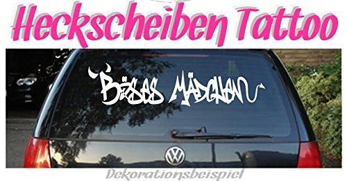 """XL - Autoaufkleber Schriftzug \""""BÖSES MÄDCHEN\"""" ***Heckscheiben-Hingucker***"""