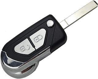 PHONILLICO Coque clé pour Citroen DS3 2009 à 2020 - Plip télécommande 2 Boutons avec Lame
