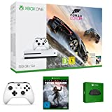 Xbox One S 500GB Konsole - Forza Horizon 3 Bundle + Rise of the Tomb Raider + zwei Xbox Wireless...