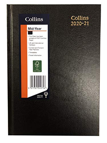 Collins 40M A4 Week to View (Appointments) 2020-2021 Desk Diary - Black