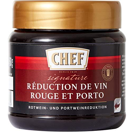 CHEF Rotwein- und Portweinreduktion für eine authentische Rotweinsauce, Pastös, 1er Pack (1 x 450g)