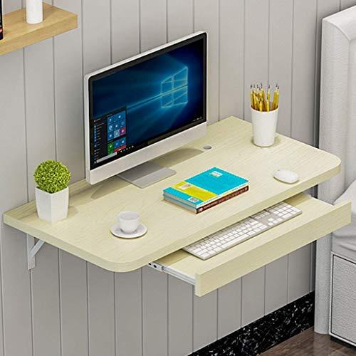 HYYK Kleiner wandmontierter Computertisch, kleine wandmontierte Werkbank, mit ausziehbarer Schubladen-Ecktisch, perfekte Ergänzung für Garage & Schuppen/Heimbüro/Wäsche/Hausbar/Küche und Esszimmer