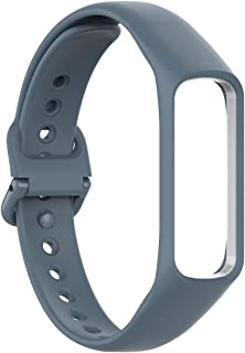 AWINNER Bands Compatible with Samsung Galaxy Fit 2,Soft Silicone Replacement Watch Bands for Boy Girls Kids (Grey)