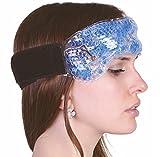 Migräneband mit Klettverschluss - Migränekompresse Gel-Perlen Linderung bei Kopfschmerzen Migräne Erkältung Nasenblutung wie Kühlkissen für Nacken Stirnband Gelkompresse wiederverwendbar