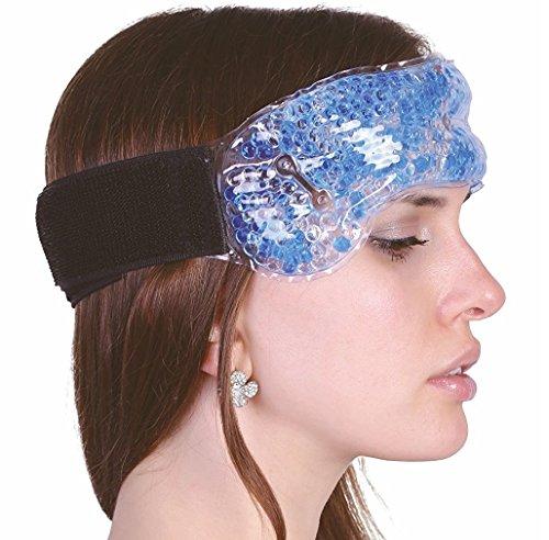 Medipuls Bande anti-migraine avec fermeture Velcro - Compresse avec perles de gel retenant le froid et le chaud pour soulager les maux de tête, les rhumes, les saignements de nez