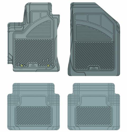Koolatron Pants Saver Custom Fit 4 Piece All Weather Car Mat for Select Toyota Corolla Models (Grey)