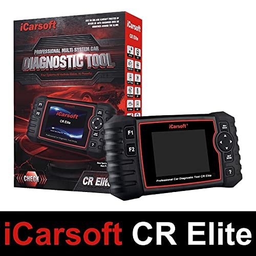 iCarsoft CR Elite - Outil Diagnostic Automobile Mumtimarques Professionnel - Lecture/Effacement Codes défauts - Codage Injecteurs - Reset FAP