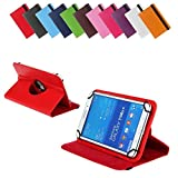 BRALEXX Universal 360° Tablet Tasche passend für Hisense Sero 7 Pro, 7 Zoll, Rot