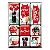 Nostalgic-Art Retro Kühlschrank Magnet, Magnetset für Magnettafel, Bunt, 9 Stück