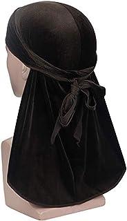 ASHILISIA Premium Velvet Durag 360, 540,720 Waves Extra Long Tail and Wide Straps for Men Du-RAG