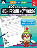180 Days of High-Frequency Words for Second Grade - Learn to Read Second Grade Workbook - Improves Sight Words Recognition and Reading Comprehension for Grade 2, Ages 7 to 9 (180 Days of Practice)