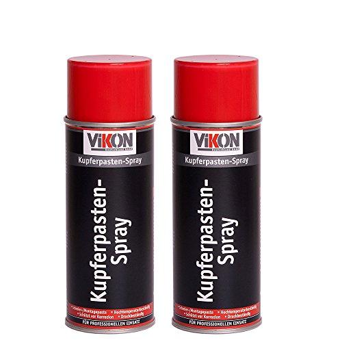 2 Dosen VIKON Kupferpasten-Spray 400 ml bis +1200°C (Kupferspray/Kupferpaste/Montagepaste)
