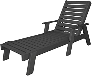 Captain Chaise Lounge with Arms Finish: Slate Grey