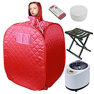 Voraca Portable Personal Sauna with Steamer, for Home Sauna Tent Machine Foldable Chair