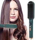 2 in 1 Haarlockerungs- und Glättungsbürste 3 Zahnräder Haarglätterbürste Beheizter...