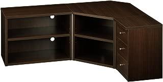 ぼん家具 テレビ台 コーナー 3点セット TV台 ローボード 32型 テレビラック ダークブラウン