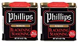 2 Pack Phillips Blackening Seasoning used in Phillips Seafood Restaurants on Blackened Chicken, Fish...