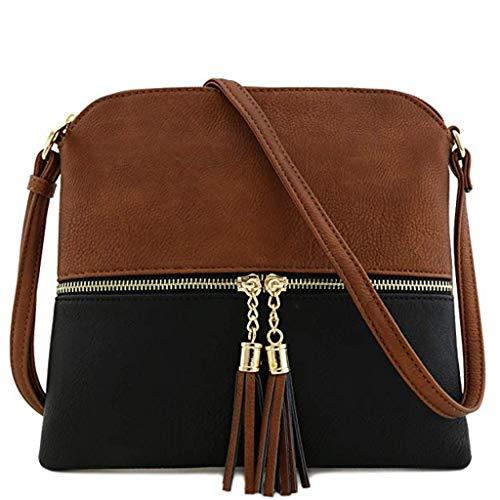 Bfmyxgs Mother es Day Messenger Bag für Frauen Leder Tassel Crossbody Bag Hit Color Shoulder Bag Totes Handtaschen Schultertaschen Rucksack Totes Waist Tasche Tasche Tasche Brustpaket