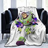 Net Method Toy Story Buzz Lightyear Flannel Blanket Super Soft and Comfortable Fuzzy Luxury Warm Plush Microfiber Blanket Suitable for Bed Sofa Travel Four Seasons Blanket -50'' x40