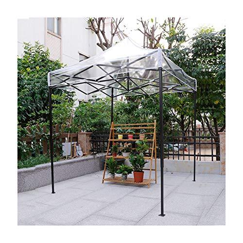 GDMING Carpa Plegable Impermeable, Cenador Plegable Transparente, 95% De Protección UV Impermeable Parasol Exterior, para Toldo Patio Jardín Mueble Cubrir, 6 Tamaños (Color : Claro, Size : 3x4m)