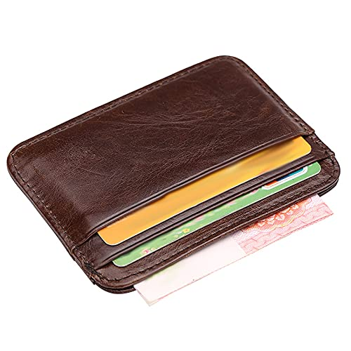 FVIWSJ Credit Card Holders Slim Minimalist Wallet, Front Pocket Wallets,for Women & Men with 4 Card Slots and 1 Coin Pocket Compact Size