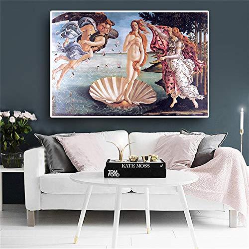 FGDH&SDF Leinwanddrucke 1 Panels Geburt Der Venus Oi Malerei Leinwand Reproduktion Poster Und Drucke Klassische Leinwand Kunst Wandbild Für Wohnzimmer. Ohne Rahmen, 40 * 60 cm