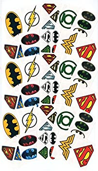 Large DC Comics Logo Temporary Tattoos for Party Favors / Party Activity - 30 Individual Sheets - Featuring Superman Batman Wonder Woman Green Lantern and The Flash