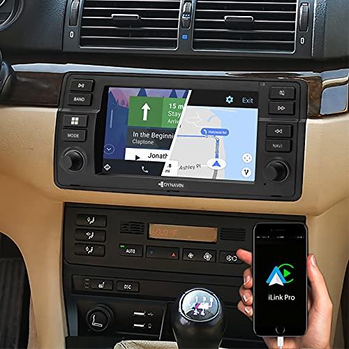 DYNAVIN Navigation Radio für BMW 3er E46, 7 Zoll Autoradio mit Bluetooth, Inkl. DAB+, USB, Kompatibel mit Carplay und Android Auto: N7-E46 Flex