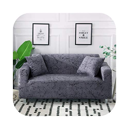 Onln 2021 34colors Slipcover Floral Sofa Covers Suitable for Four Seasons for Living Room Furniture Protector Elastic Loveseat Couch Cover-Color 31-3-seater 195-230cm
