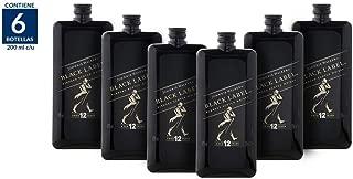 Whisky Johnnie Walker Black Label Pocket Scotch - 200ml / 6 Piezas