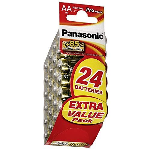 Panasonic Pro Power Alkali-Batterie, AA Mignon, 24er Pack, langanhaltende Energie für Geräte mit mittlerem bis hohem Energieverbrauch, Alkaline