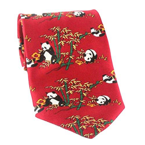 Black Temptation Motif Mode Hommes Cravates/Panda noeuds papillon/cravate/écharpe/Neckwear-rouge2