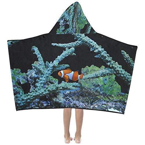 Manta para la siesta Nemo Payaso Pez de mar Pez payaso naranja Manta con capucha para niños Toallas de baño Envoltura para niños pequeños Niño Niña Niño Viaje en casa Dormir Toallas de baño grandes