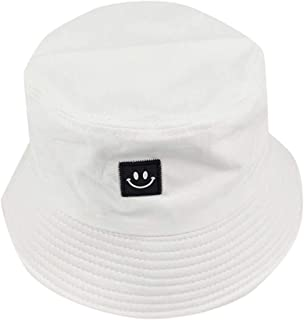 Unise Hat Summer Travel Bucket Beach Sun Hat Smiley Face Visor