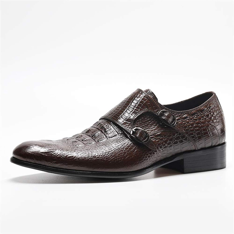 Men's Business Leather shoes Men Comfortable Dress shoes Crocodile Embossing Men's Leather shoes