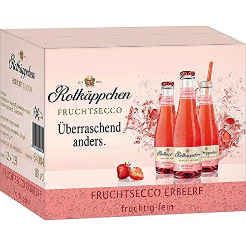 12 Flaschen Rotkäppchen Fruchtsecco Erdbeer a 200ml Piccolo Erdbeere