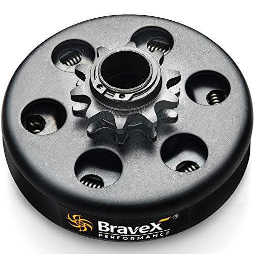 Bravex Go kart Clutch - 3/4' Bore 10 Tooth for #40/41/420 Chain No More Than 200 cc Only for Engines below 6.5HP