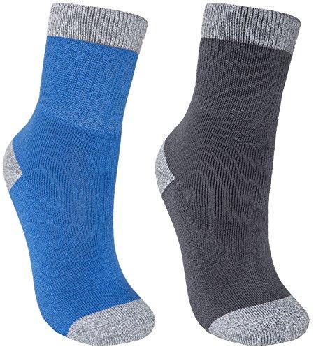 Trespass Dipping Chaussettes de Marche Garçon, Bleu Clair Chiné/Gris Chiné, FR : XL (Taille Fabricant : 9-12)