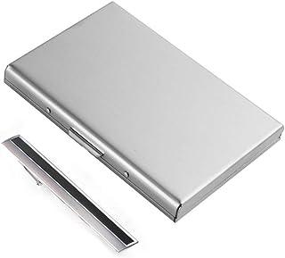 2 pezzi. Porta carte di credito, custodia sottile in metallo, blocco RFID/porta monete.