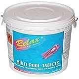 Relax 5Kg Multi-Chlorine Tablets Large 200g Swimming Pool Sanitiser
