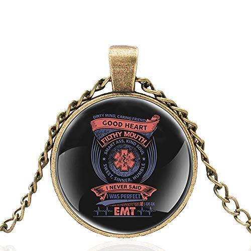 Rettungsdienst Garantieren Sie Ihre Gesundheit Glass Dome Metal Classic Halskette Retro Herren Und Damen Schmuck Geschenk