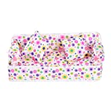 Tinksky Lovely Miniature Dollhouse Furniture Flower Print Sofa Couch with 2 Cushions for  Dolls (Random Color)